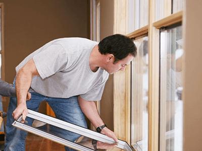 Замена стеклопакета на дому